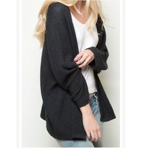 Brandy dark grey caroline cardigan